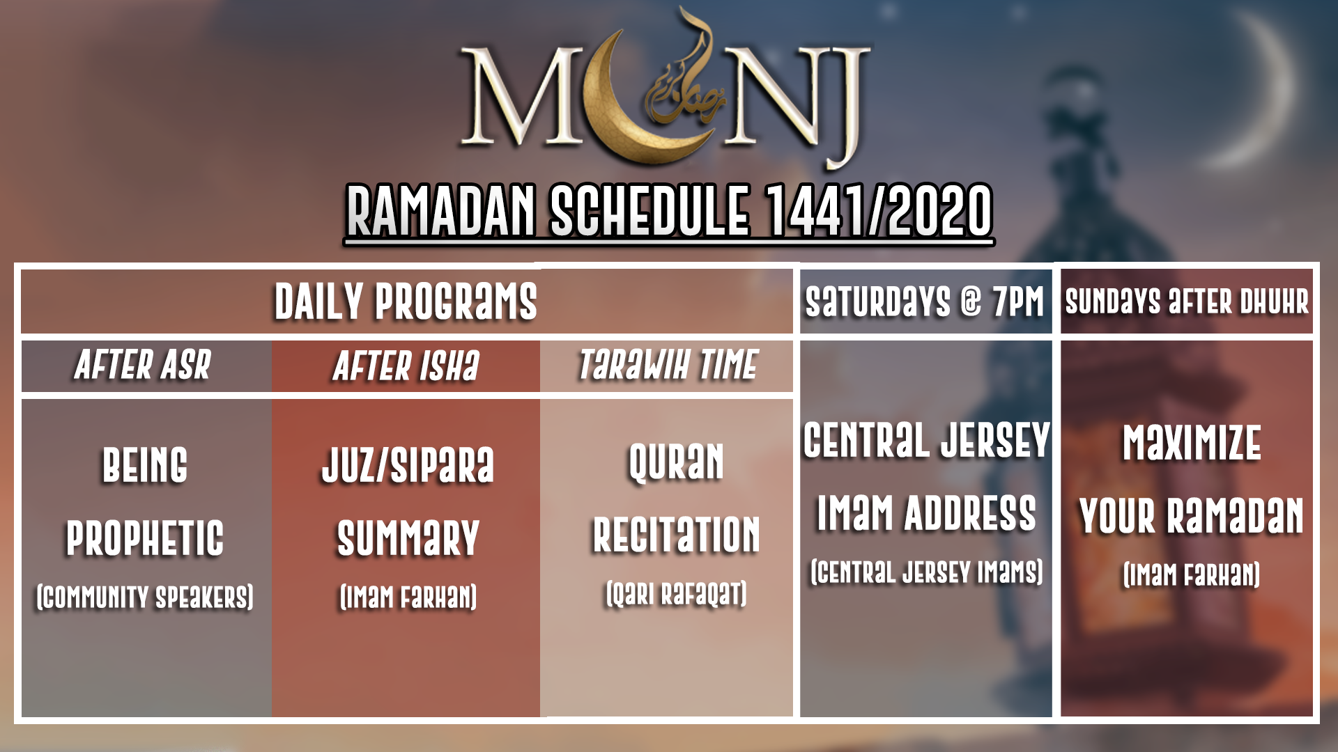 MCNJ Ramadan Online Events