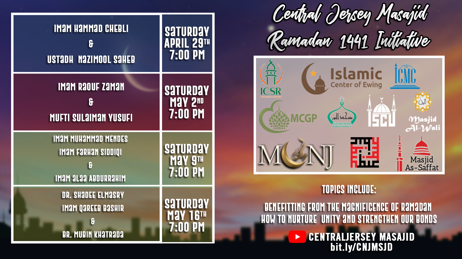 Central Jersey Masjids Online Events