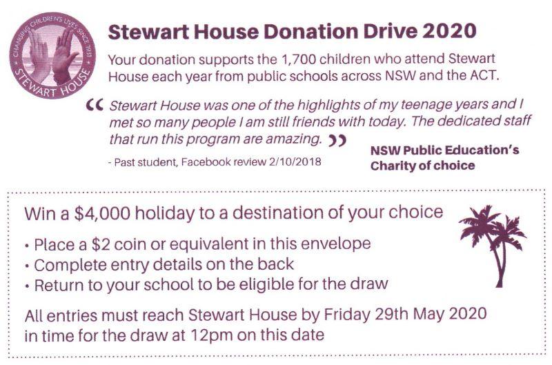 Stewart House Donation Drive 2020