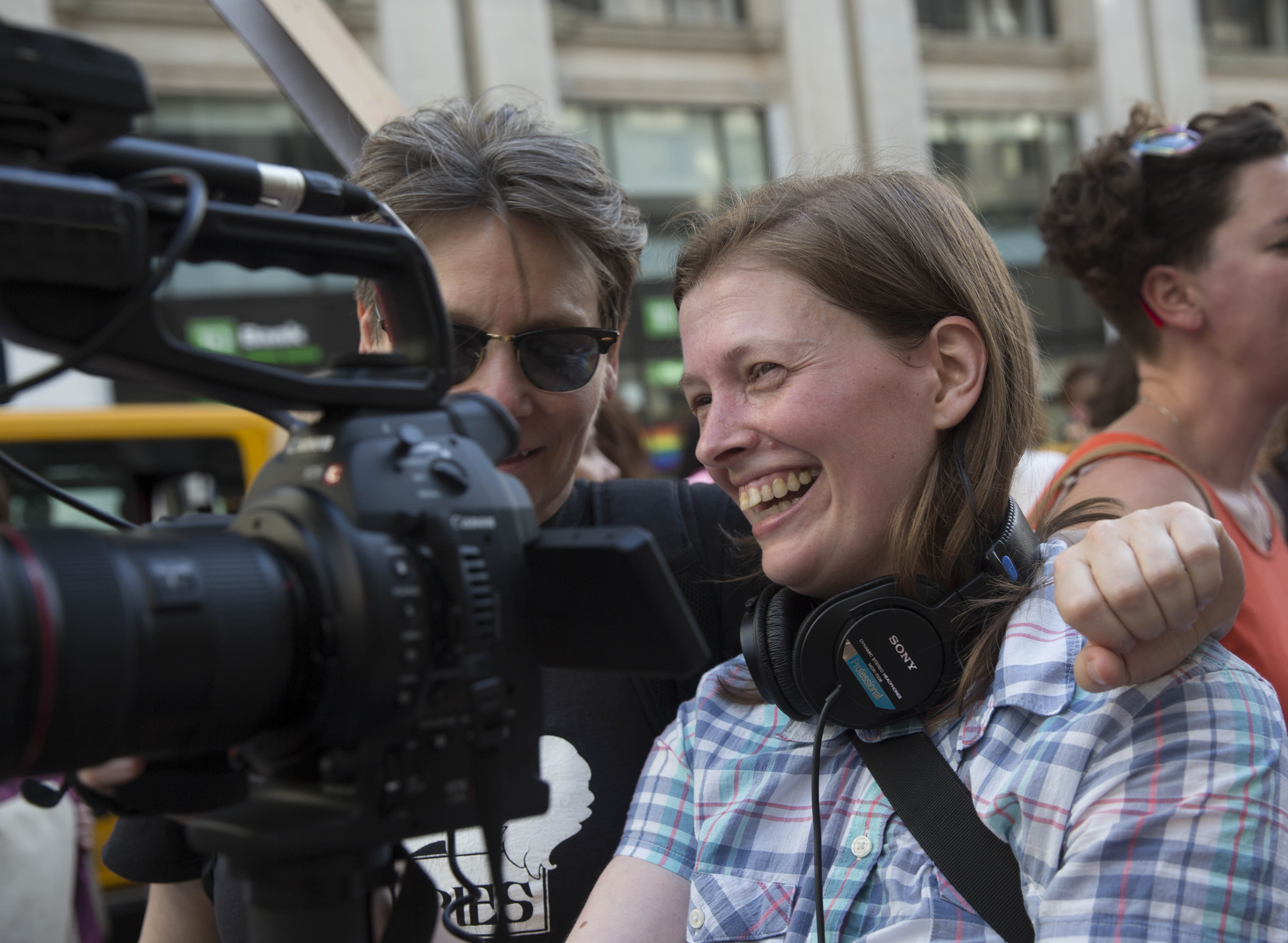 Megan Rossman director of The Archivettes behind the camera