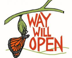 Way Will Open logo of butterfly emerging from chrysalis