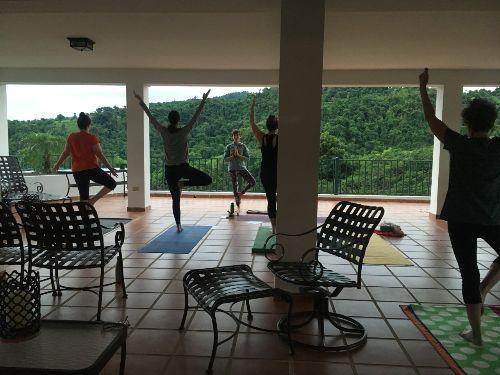 PR yoga on the patio