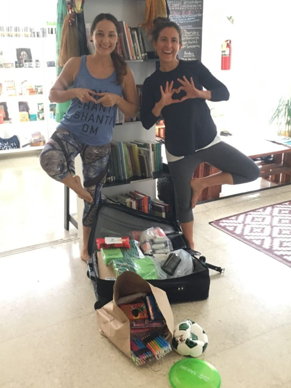 Lisa and La Paz employee with first OTL PR donation| Jan 2020