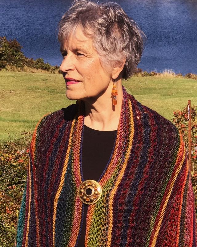 Ilga Leja wearing Kaleidoscope Knitting