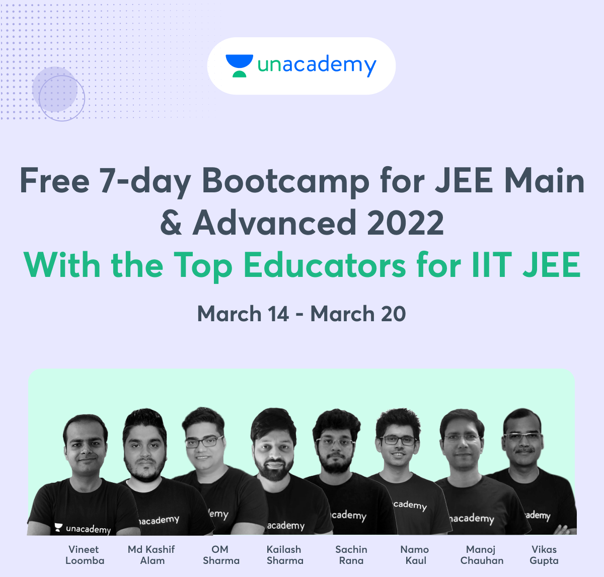Free 7 Day Bootcamp for JEE Main & Advanced 2022