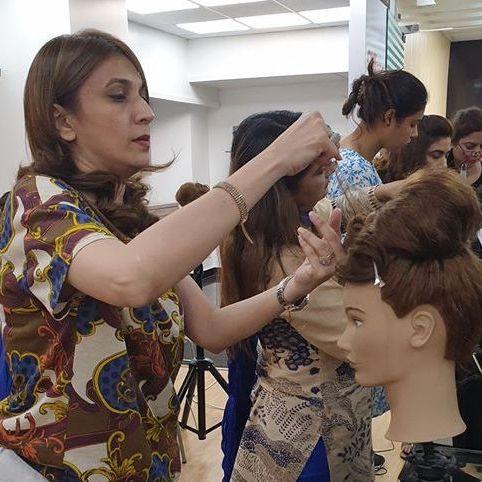 Hair School student