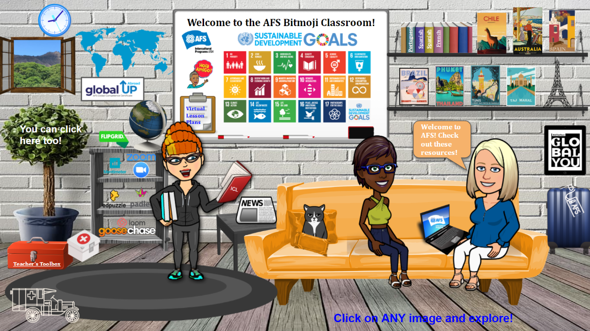 AFS-USA Bitmoji Classroom