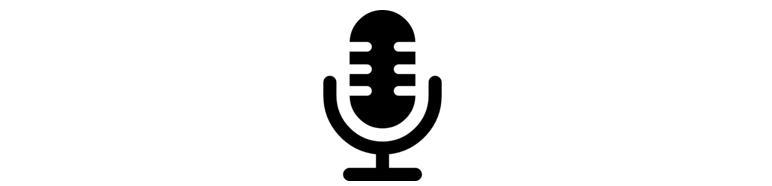 afbeelding van een miicrofoon. door hierop te klikken kun je de podcast afluisteren