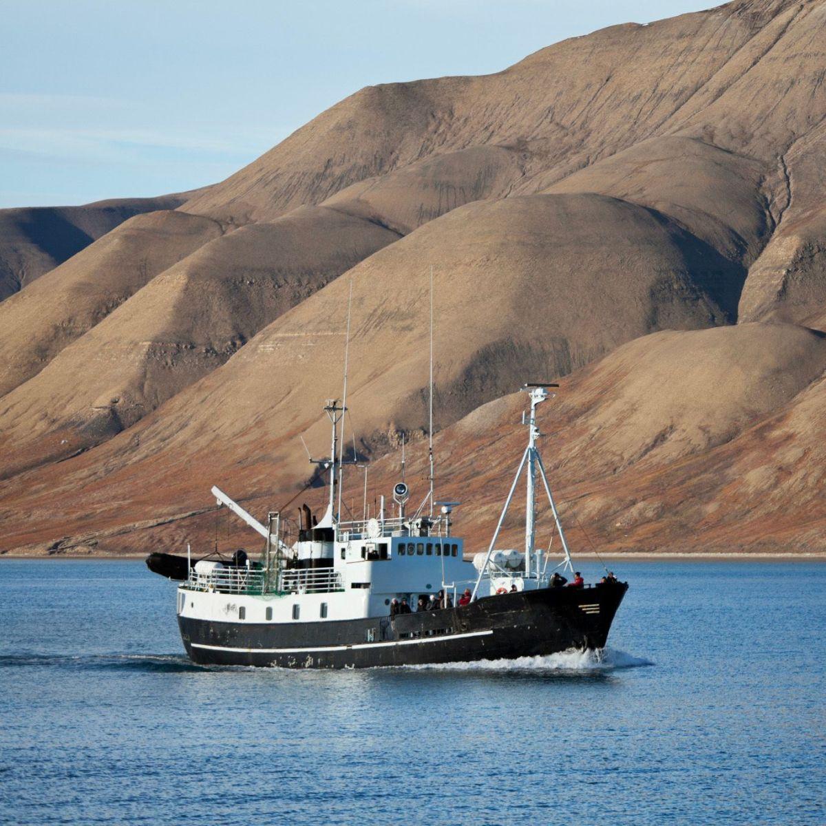 Fishing vessel in Svalbard
