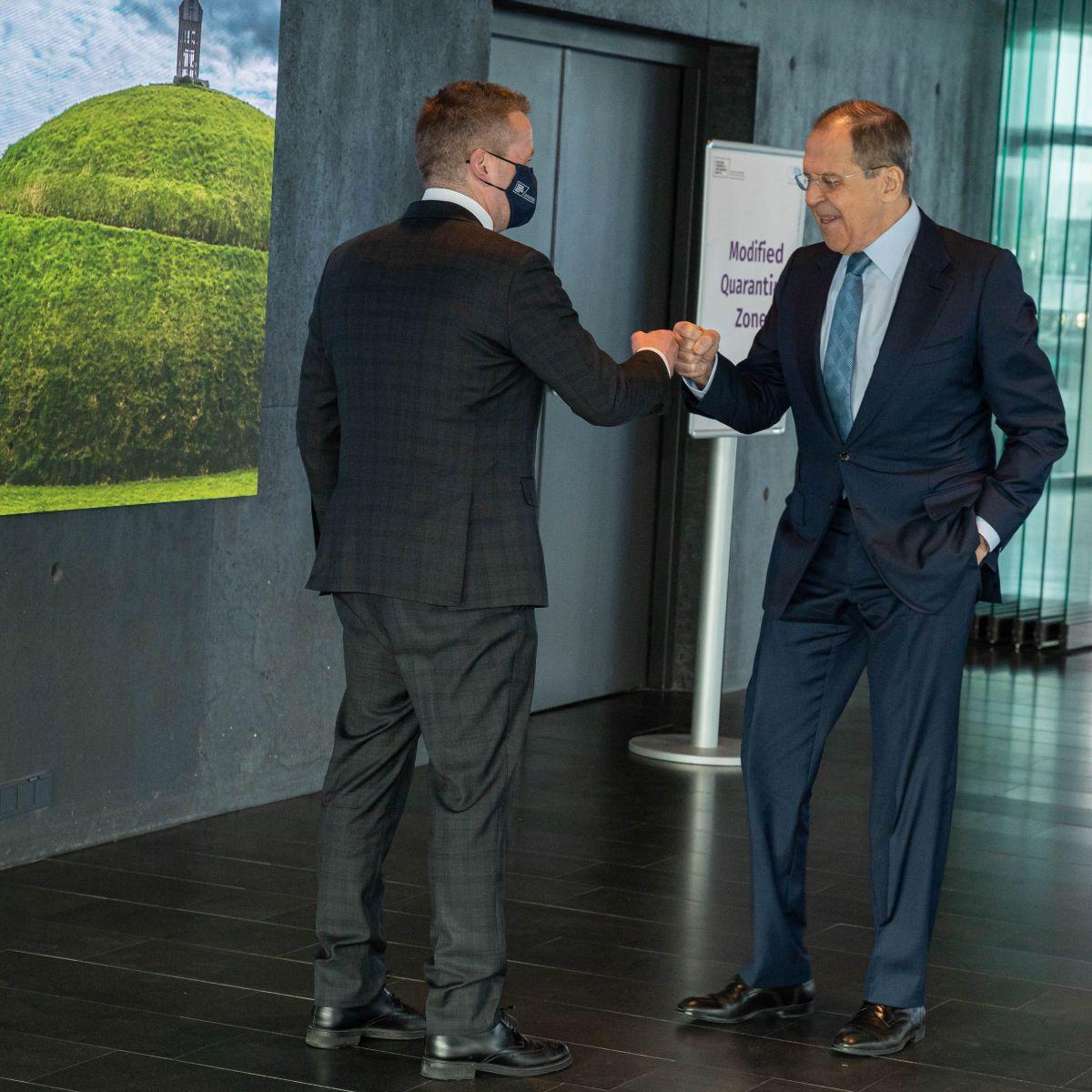 Minister Thordarson and Minister Lavrov