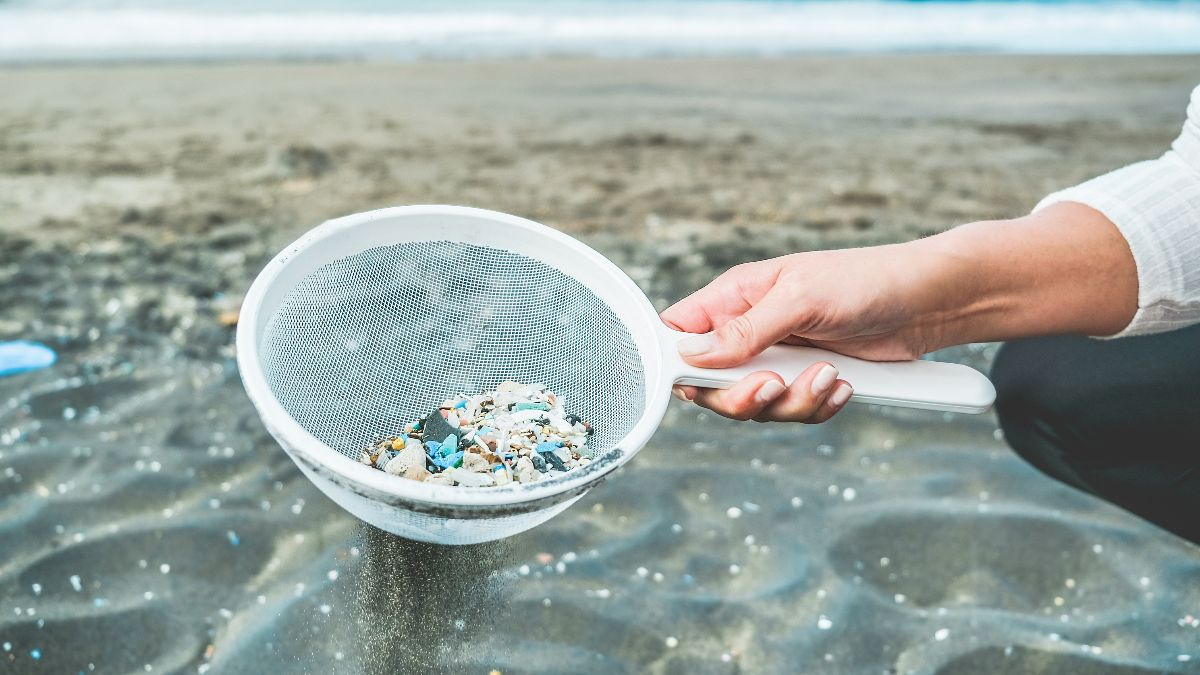 Clean-up of microplastics from beach