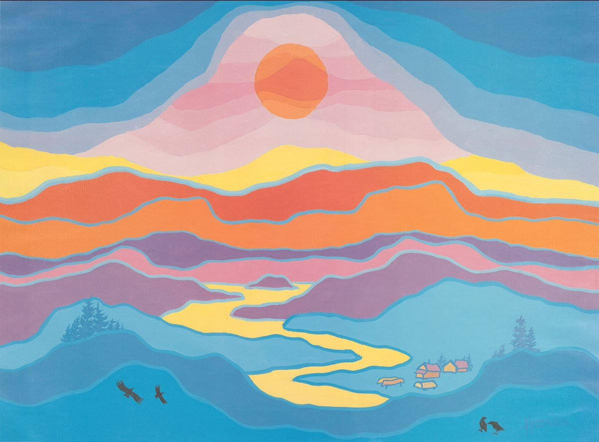 Ted Harrison's painting that is in on the cover of the Ottawa Declaration