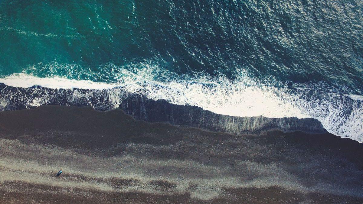 Arial photo of Icelandic coast