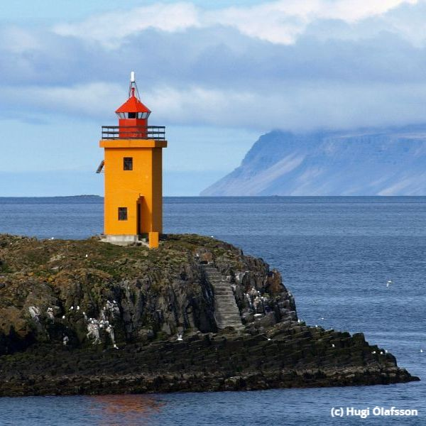 Photo of a lighthouse in Iceland
