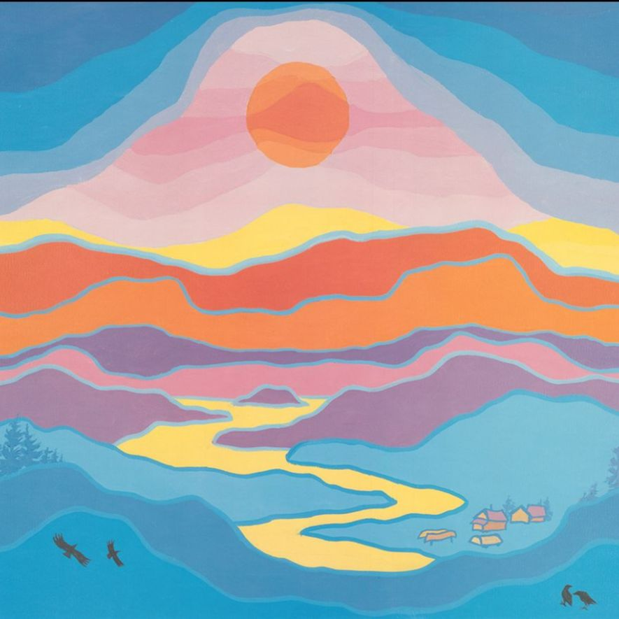 Ted Harrison painting