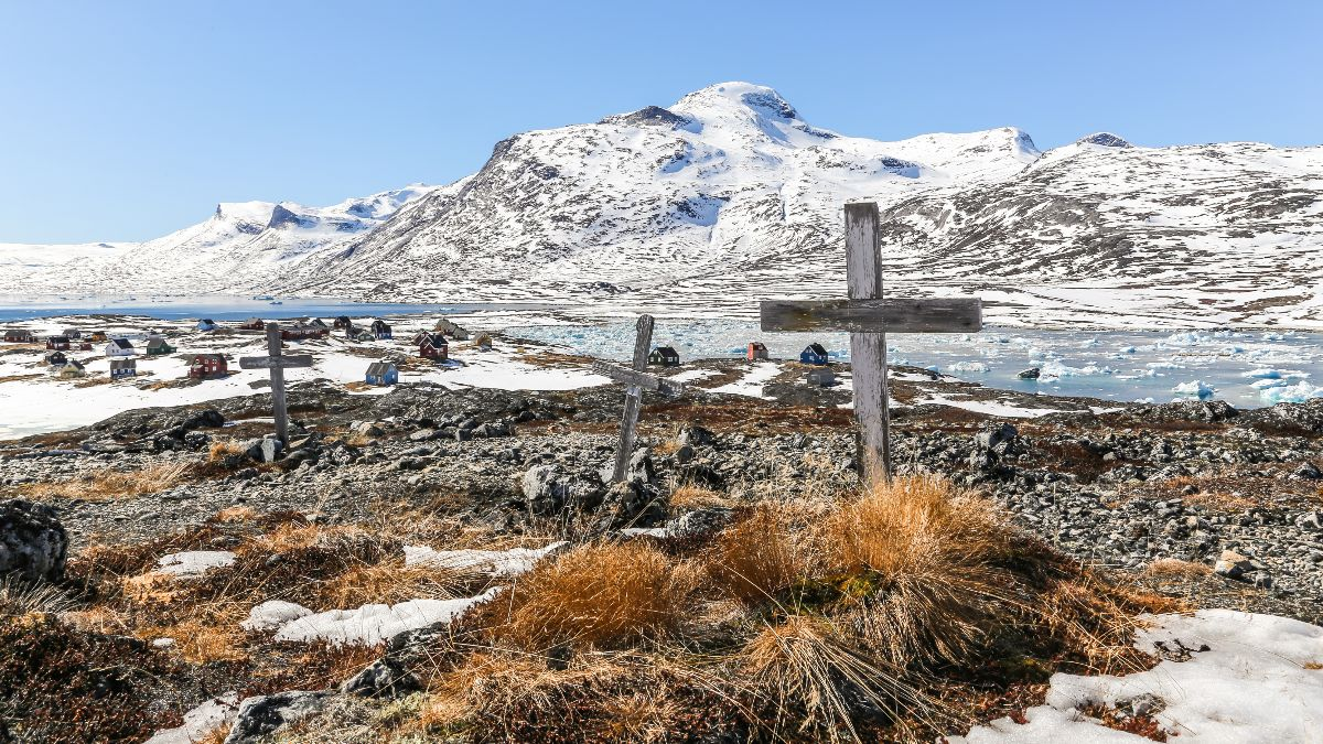 Abandoned graveyard in Greenland