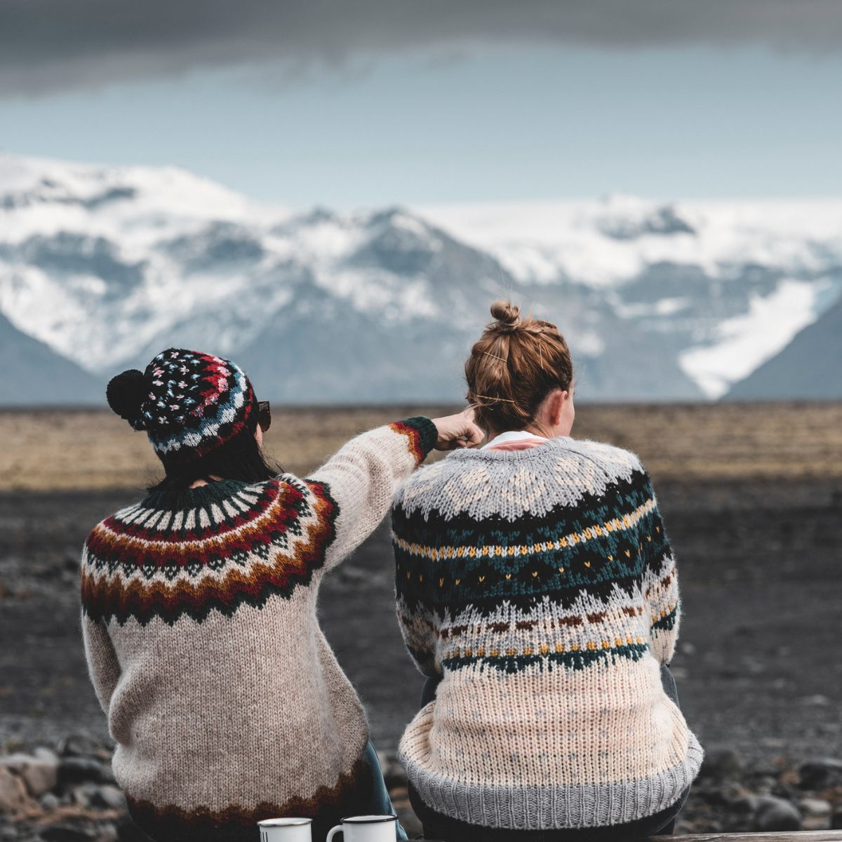 Two girls in Iceland