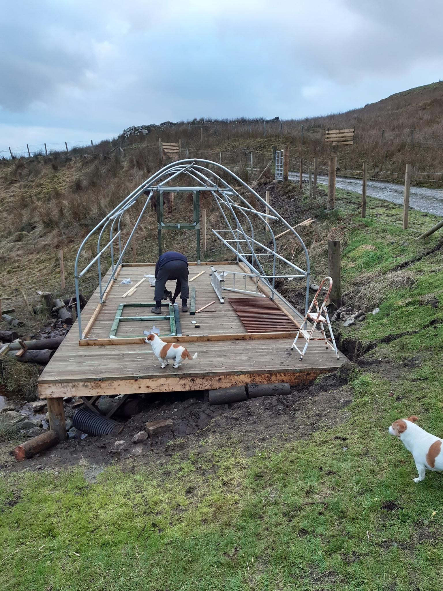 3m x 6m Keder Greenhouse Frame assembled