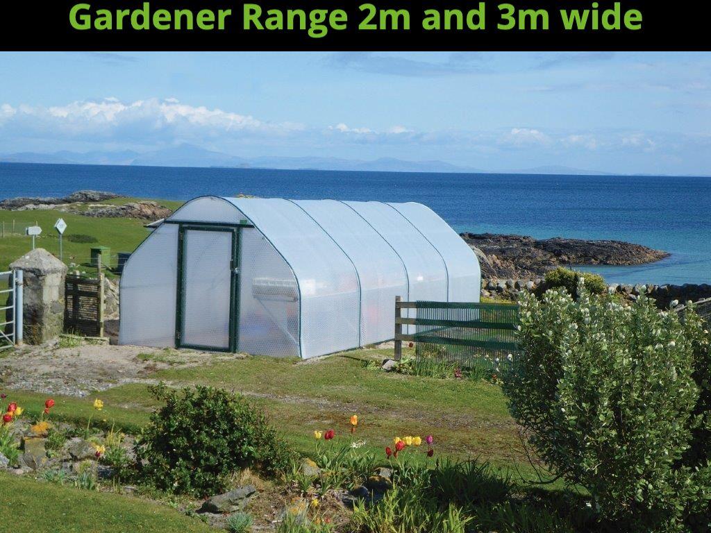 3m x 8m Keder Greenhouse on the coast