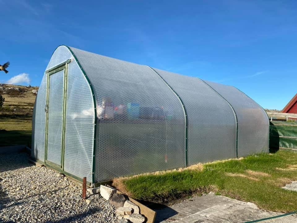 3m x 6m Keder Greenhouse on Falkland Islands