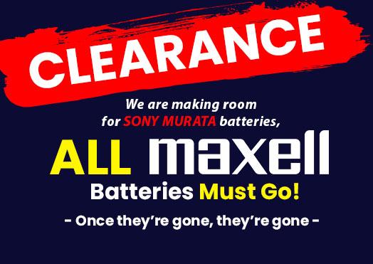 Maxell Clearance