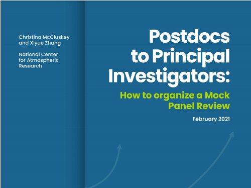 The cover of the postdocs manual