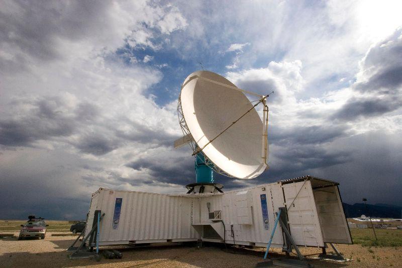 The S-Pol radar in the field