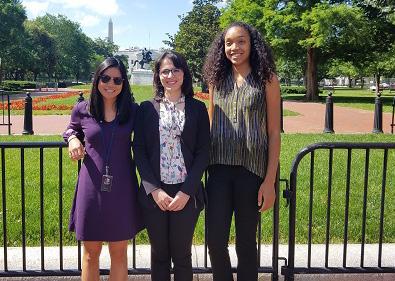 Three UCAR Next Gen Fellows in Washington, DC