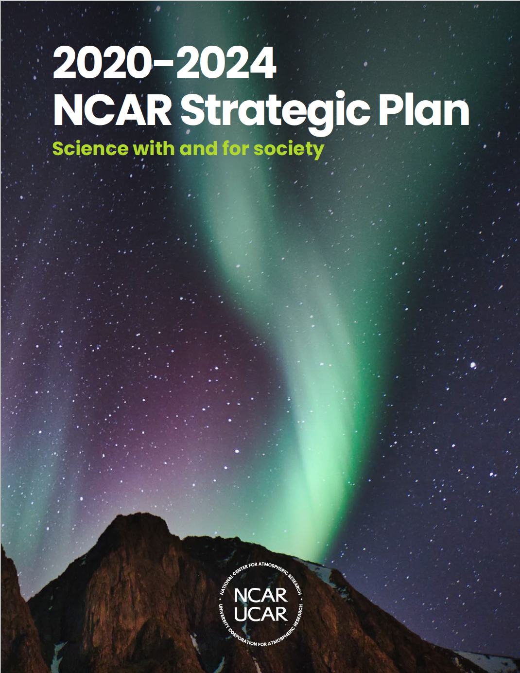 The cover of the NCAR strategic plan