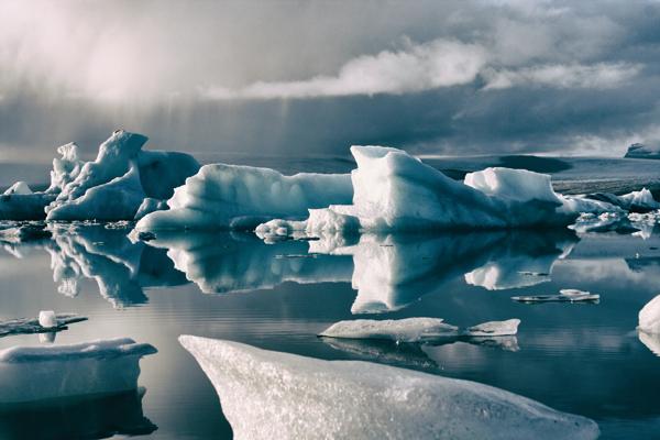 Sea ice on the coast of Alaska