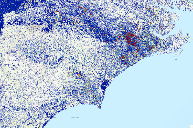 Image from the National Water Model