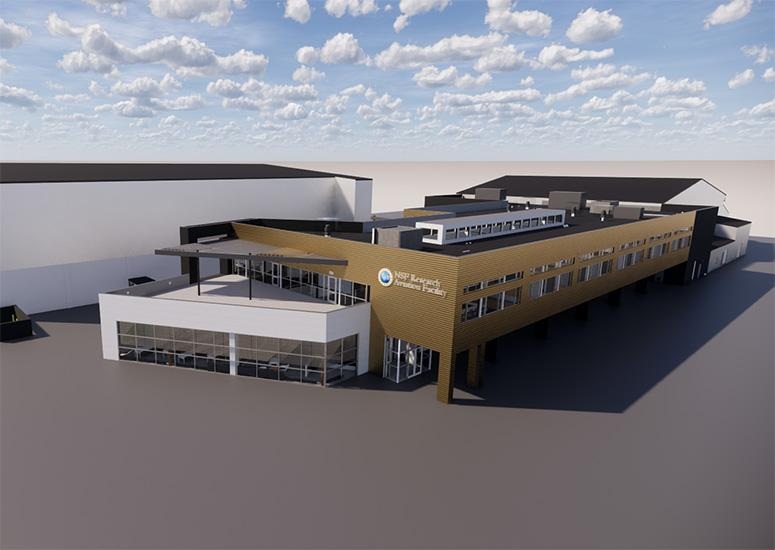 A rendering of the new RAF building