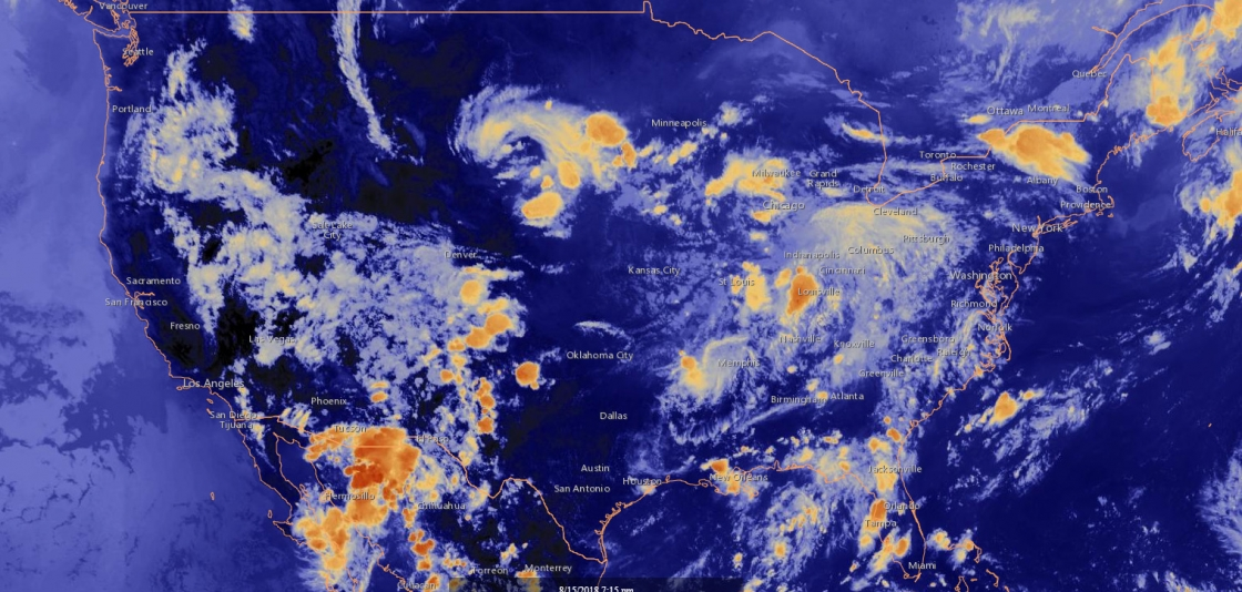 Satellite data from GOES-16