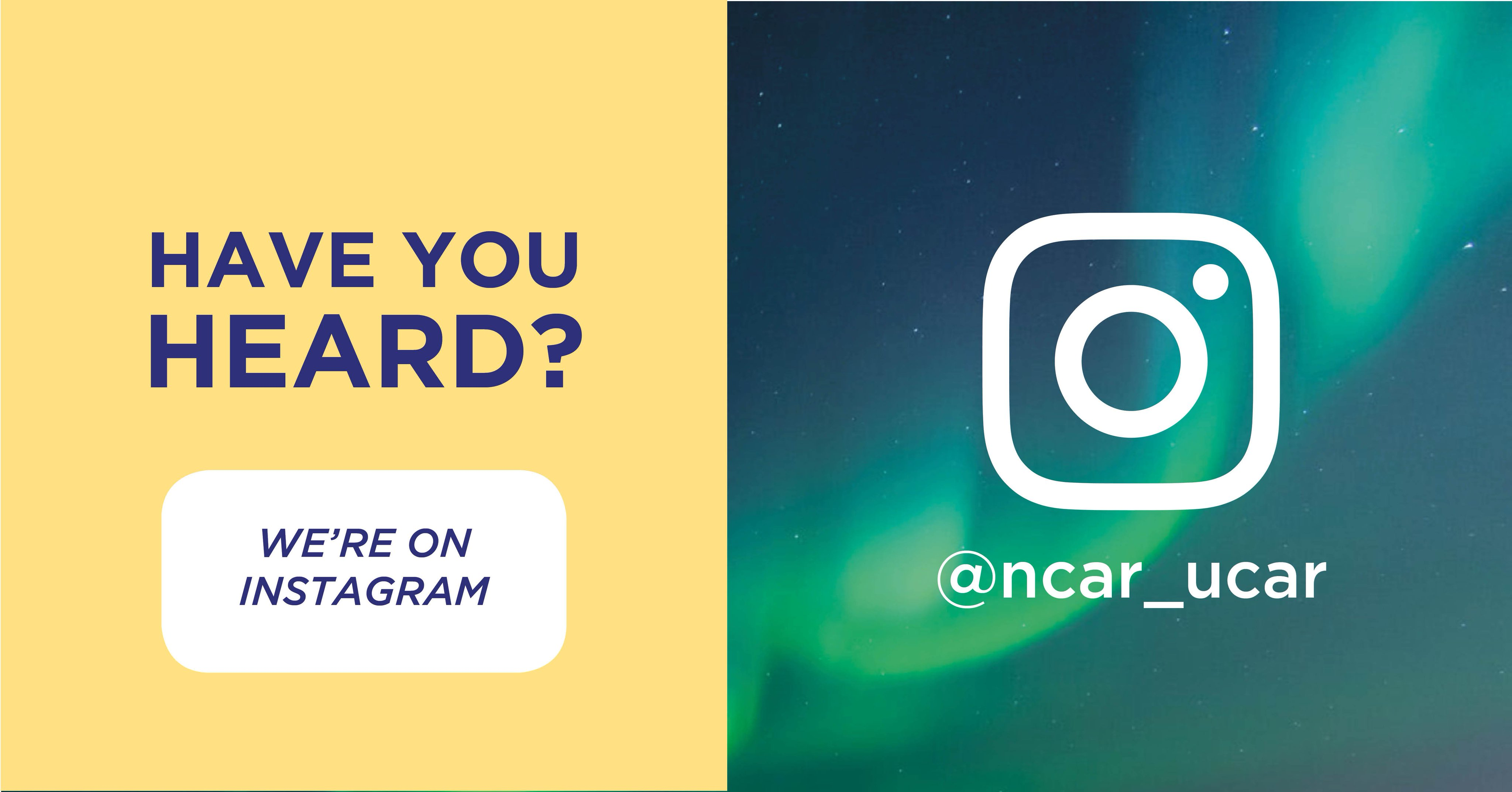 Have you heard? We're in instagram