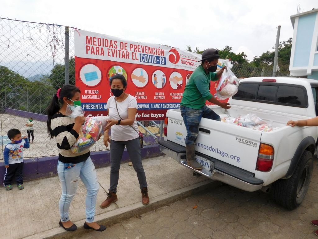 Distribution of Food-Aid Packages in San Luis, nr San Andres Semetabaj