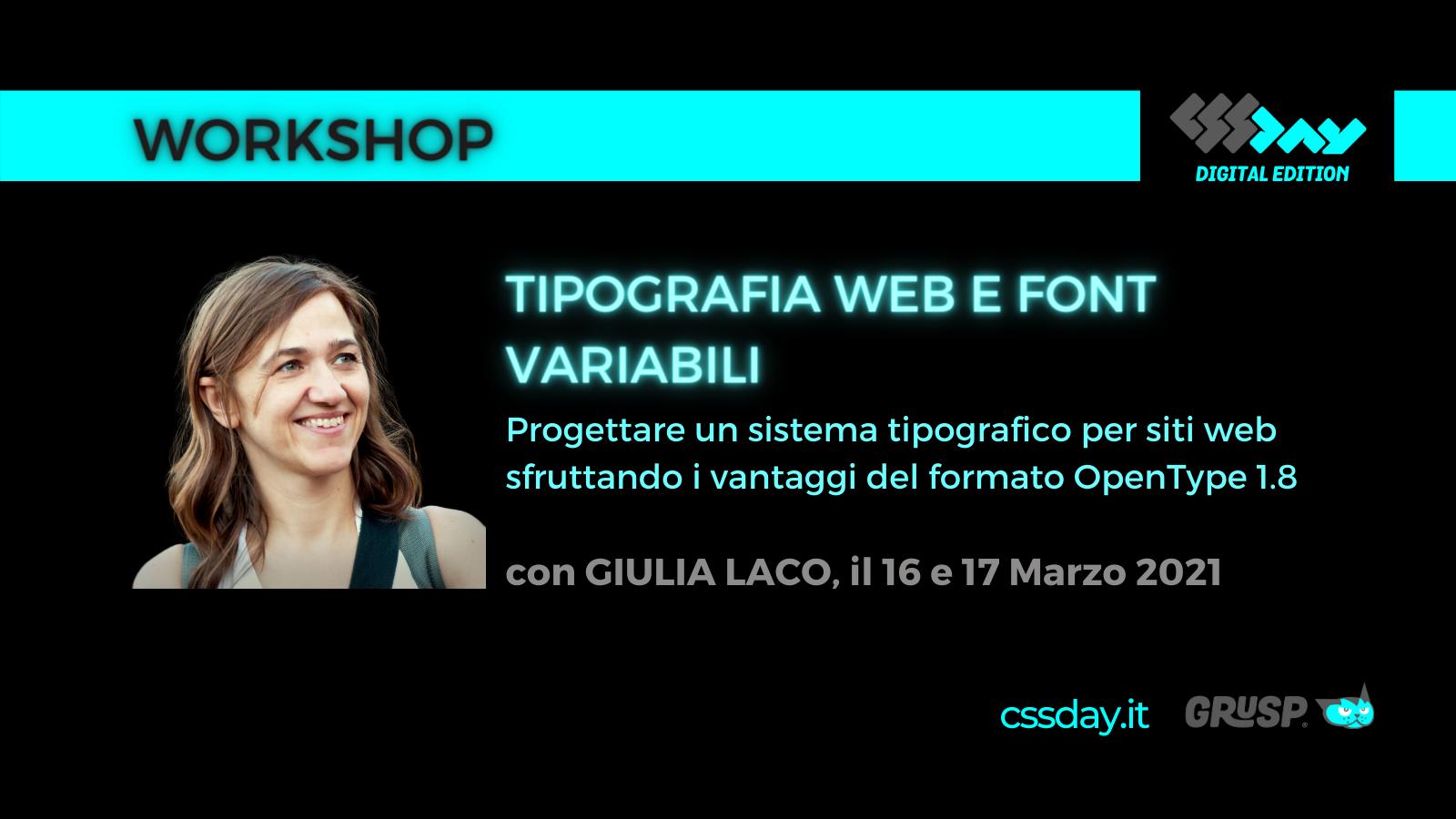 tipografia web e font variabili