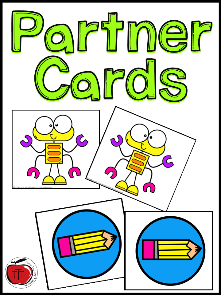 Partner Cards for matching students up.