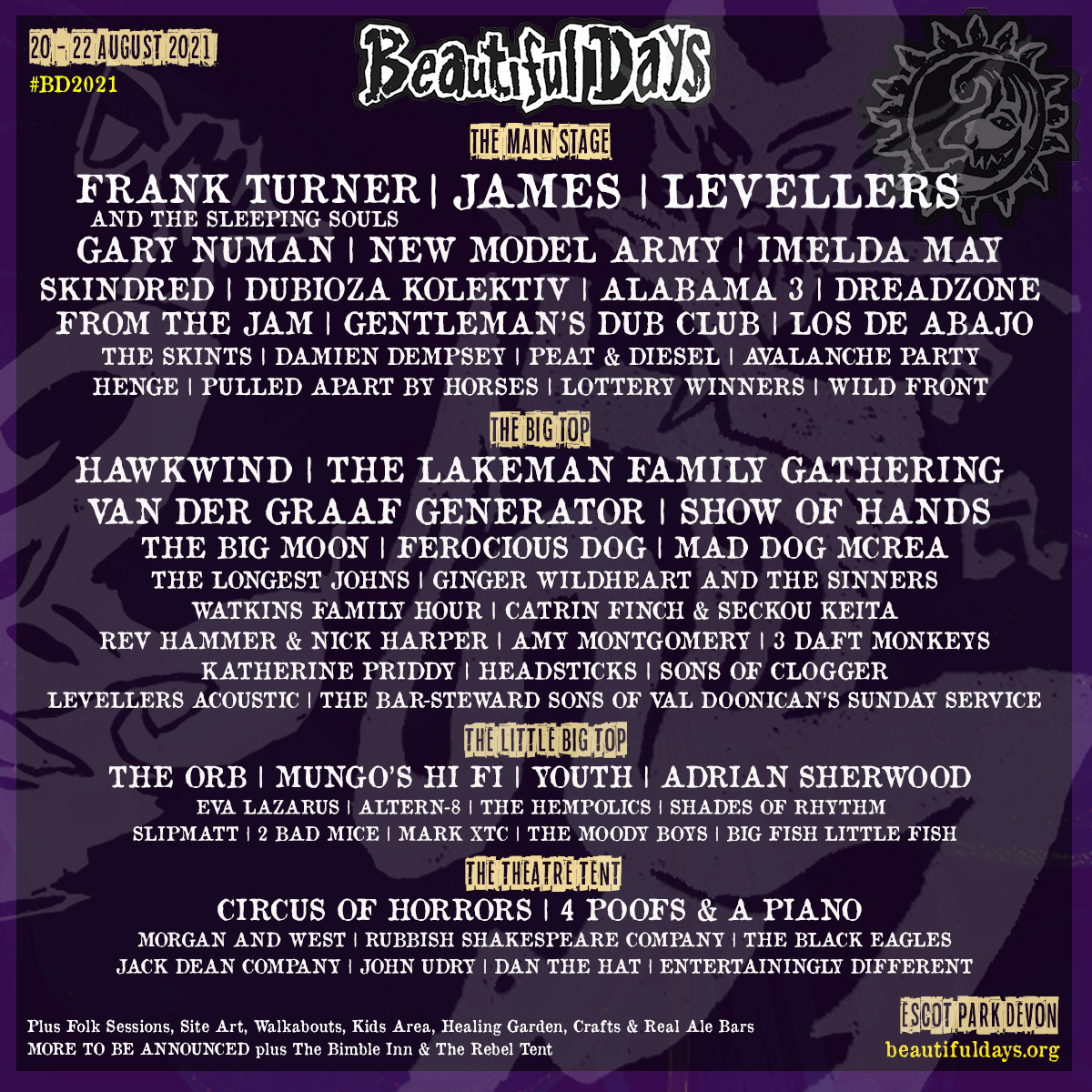 Beautiful Days: Line-up announced for 2021 festival 1
