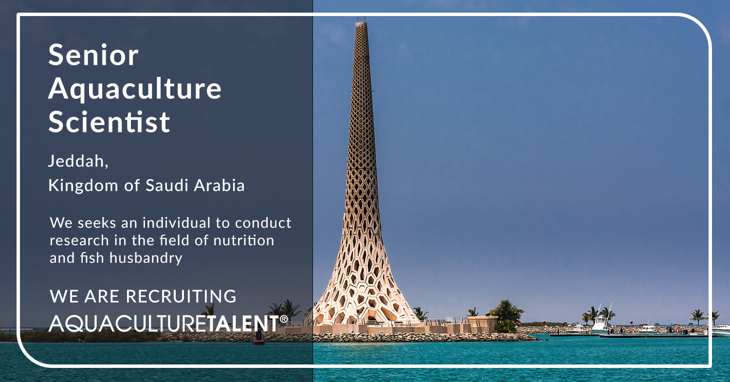 We seeks an individual to conduct research in the field of nutrition and fish husbandry. The successful candidate will join the Aquaculture Development Program team to implement the ongoing and future projects in the university facilities or assigned aquaculture research centres.