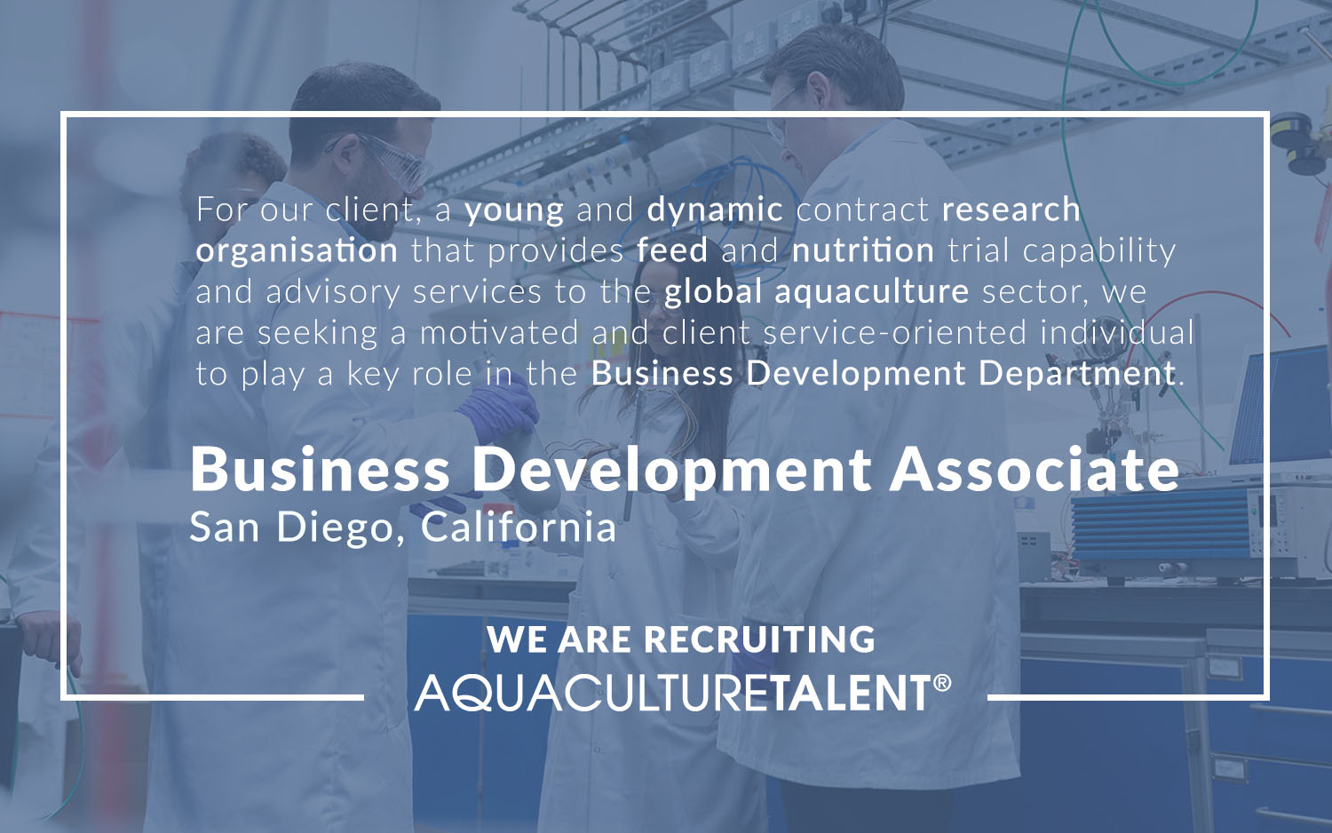 We are seeking a motivated and client service-oriented individual to play a key role in the Business Development Department