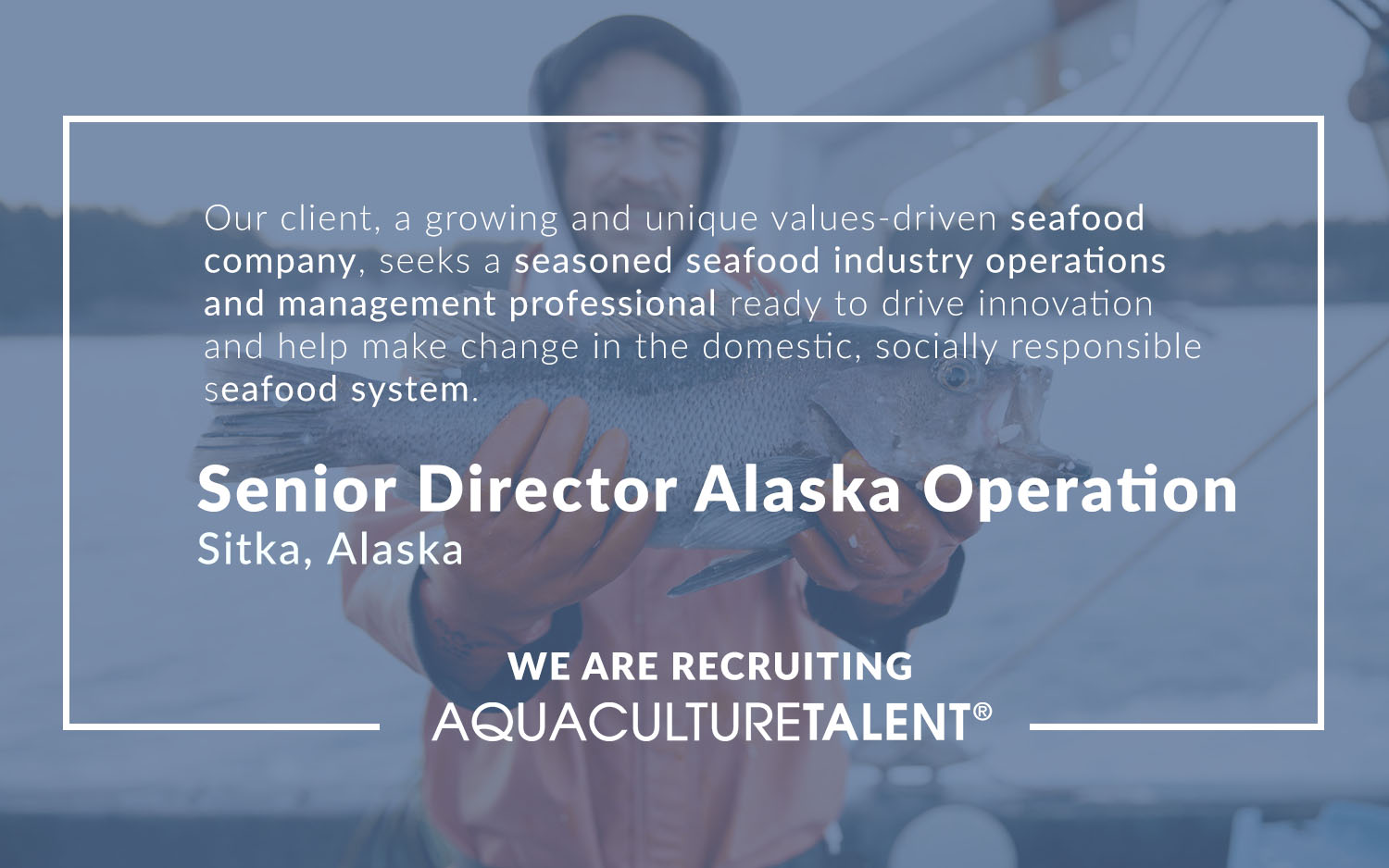 We are Recruiting, Senior Director Alaska Operation - AquacultureTalent
