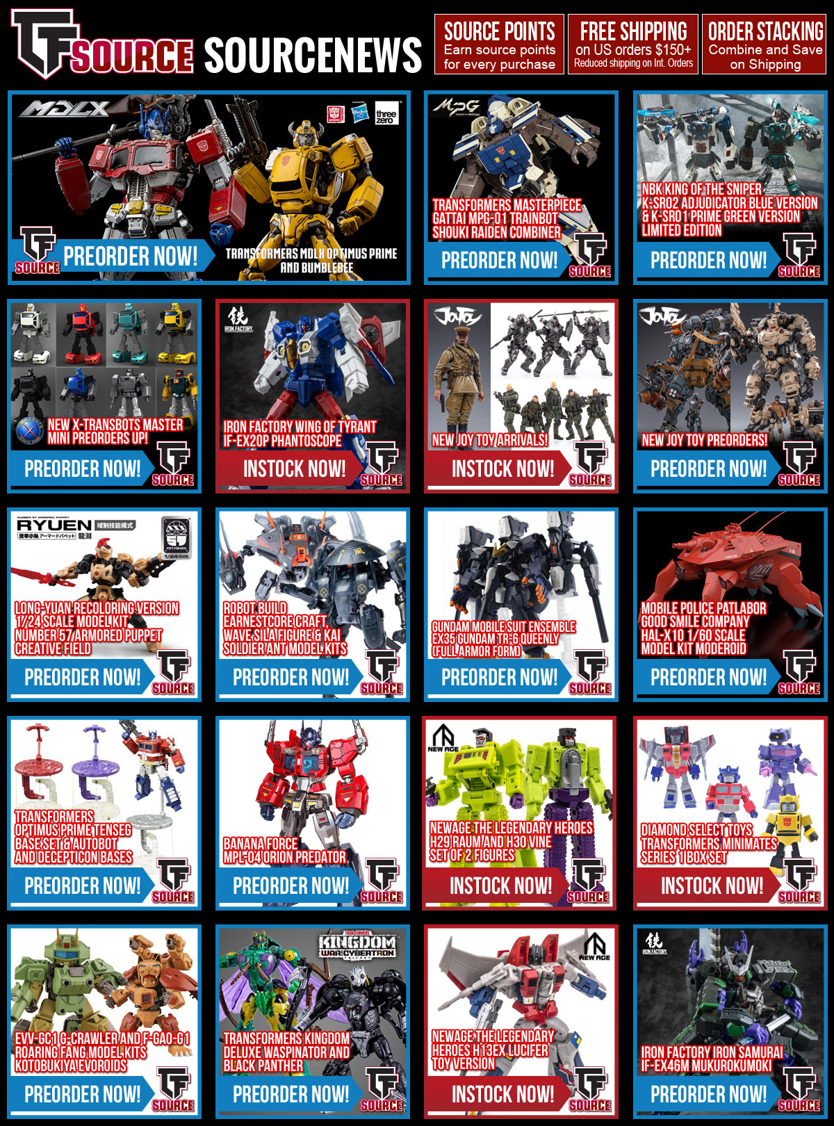 TFSource News - Earn Double Source Points on instock purchases now through Wednesday!