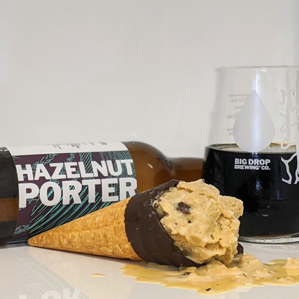 Big Drop's Hazelnut porter and ice cream