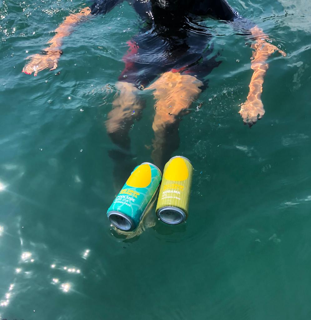 Sea-swimming with Big Drop beers