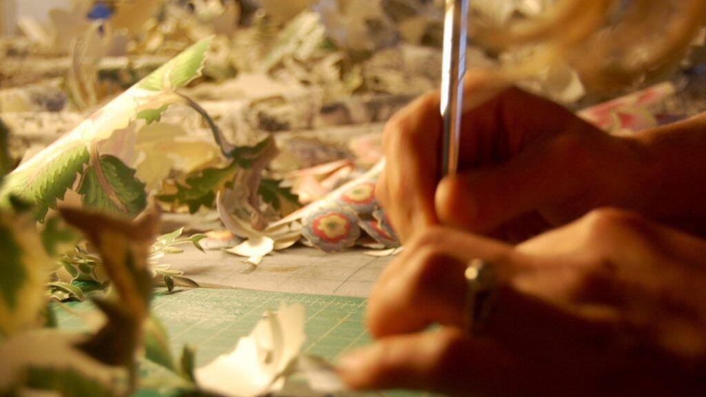 Elizabeth Alexander (Sculpture/Installation/New Genres Fellow '11) at work in her studio.