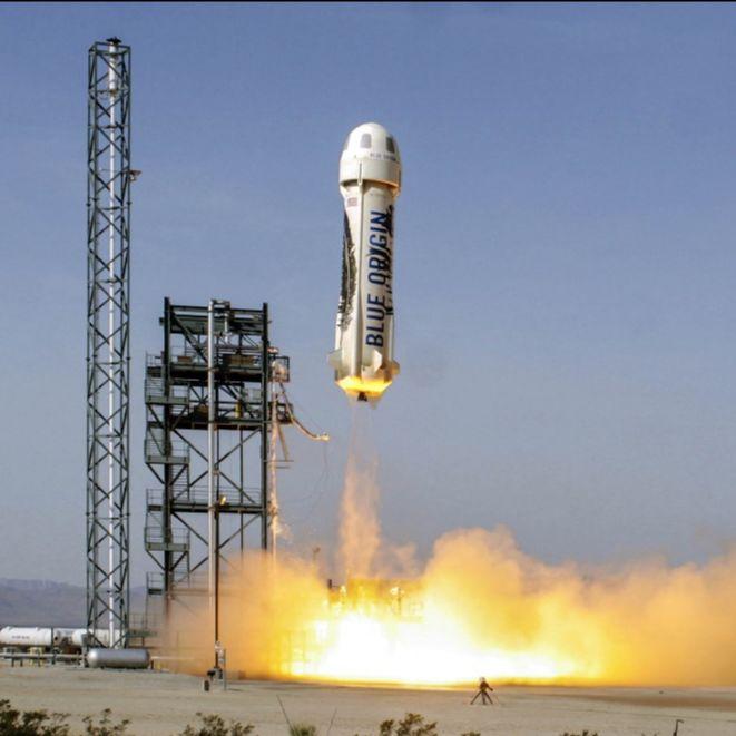 Blue Origin New Shepard Launch. Credit: Blue Origin.