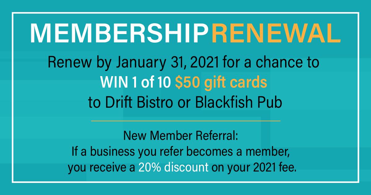 Membership Renewal Prizes
