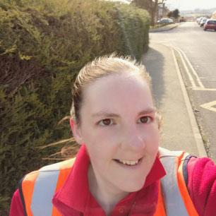 Sarah, postal worker