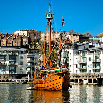 Old boat in Bristol harbour