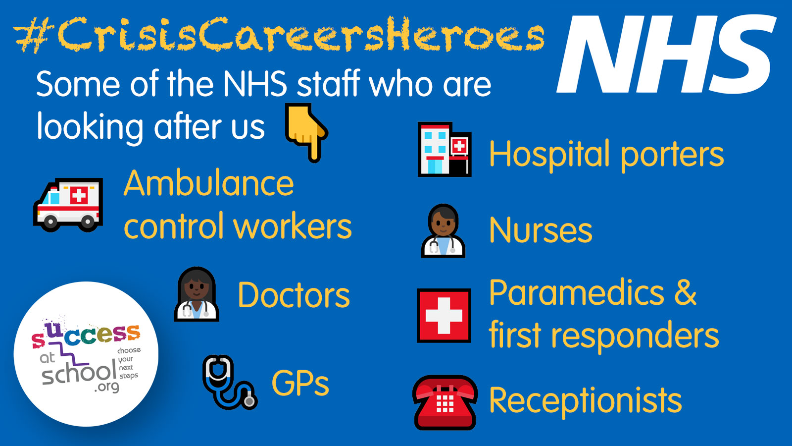 #CrisisCareersHeroes graphic